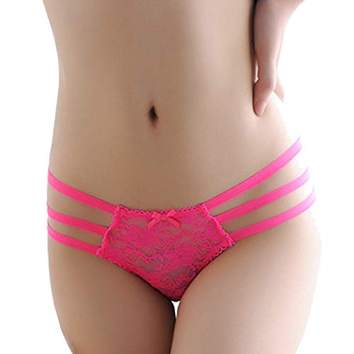 Romantic Ladies Sexy Open Back Underwear, hot pink
