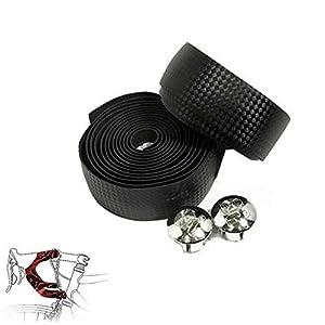 topcabin carbon fiber comfort gel road bike handlebar tape bike bar tape with reflective bar plugs carbon fiber tape furniture