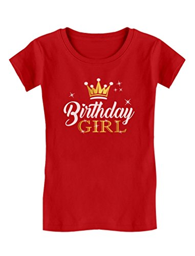 Gift for Birthday Girl Princess Party Girly Toddler/Kids Girls' Fitted T-Shirt