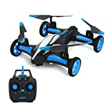 RC Drone Quadcopters - MKLOT JJRC H23 Flying Car Drone Air Ground Dual Mode Quadcopter 3D Flips...