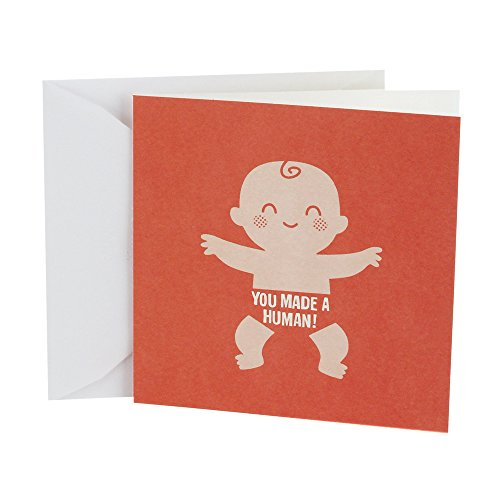 Hallmark Studio Ink Baby Congratulations Greeting Card (Made a Human)