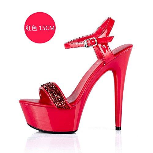 d zapatos de La fiesta personalidad sandalias es FLYRCX moda delgado sexy simple delgado mujer gZxwO