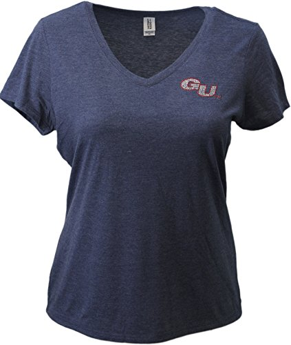 - Nitro USA NCAA Gonzaga Bulldogs Womens Super Soft Women's Collegiate Bling V-Neck Tee, 3X, Navy