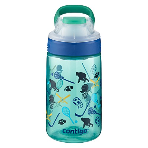 Contigo AUTOSEAL Gizmo Sip Kids Water Bottle, 14oz, Jungle Green