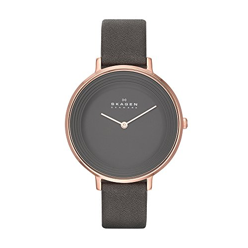 Skagen Women's SKW2216 Ditte Grey Leather Watch