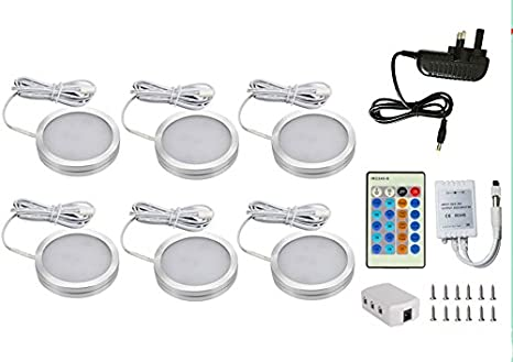 Captivating Dokoeo Dimmable LED Under Cabinet Lighting Kit, 510lm Puck Lights, Under  Counter Lighting,