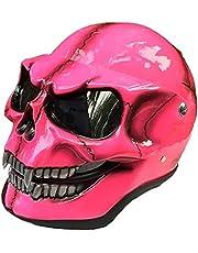 Schedel helm, horror decoratie vol hoofd schedel helm beweegbare kaak, schedel skelet vizier Flip-up Motorfiets helm, met heldere goggle schedel motocross helm
