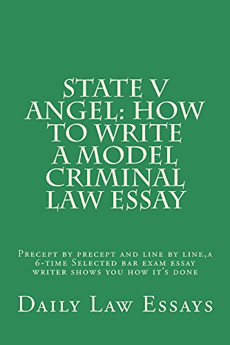Criminal law essay How should I write it?