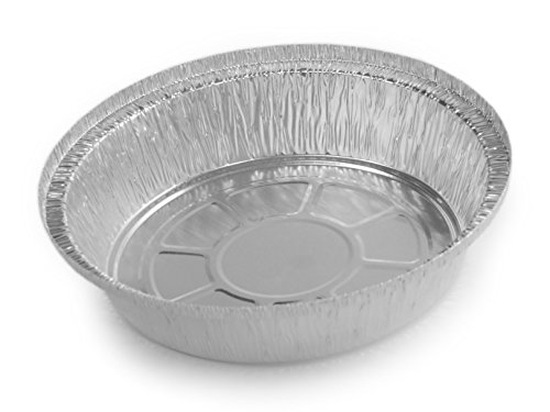 Simply Deliver 7-Inch Round Disposable Take-Out Pan, 30 Gauge Aluminum, 500-Count