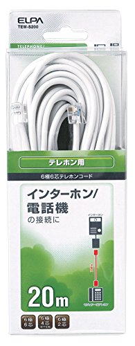[해외]ELPA (엘) 전화 코드 6 극 6 코어 20m 모듈러 플러그-플러그 / ELPA (ELPA) Telephone Cord 6-Pole 6-Core 20m Modular Plug -Modular Plug