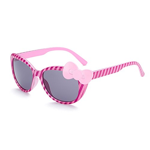 Naivo Girl's YJMH095-1 Polarized Butterfly Bow Tie Sunglasses, Petite - Sunglases Kids