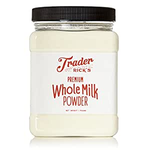 Trader Rick's Dairy Whole Milk Powder, 1 lb, Hormone Free, Made in USA