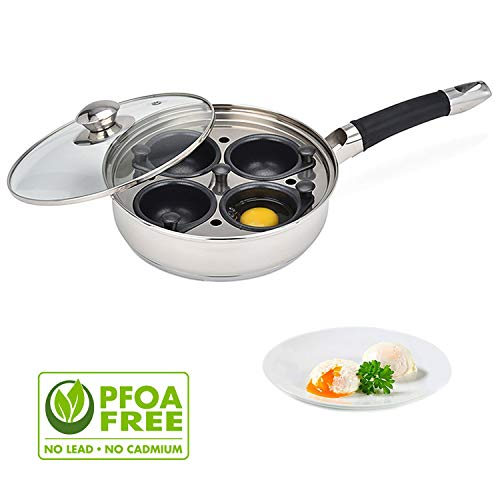 Egg Poacher Pan - Stainless Steel Poached Egg Cooker - Perfect Poached Egg Maker...