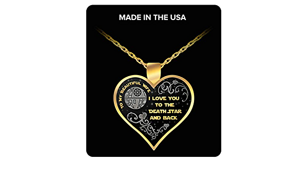 Star Wars Jewelry for Women Death Star Necklace for Wife Star Wars Love Necklace RC Rex Books I Love You to The Death Star and Back