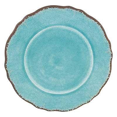 Le Cadeaux Antiqua Turquoise - Melamine Dinner Plates - Set of 8  sc 1 st  Amazon.com & Amazon.com | Le Cadeaux Antiqua Turquoise - Melamine Dinner Plates ...