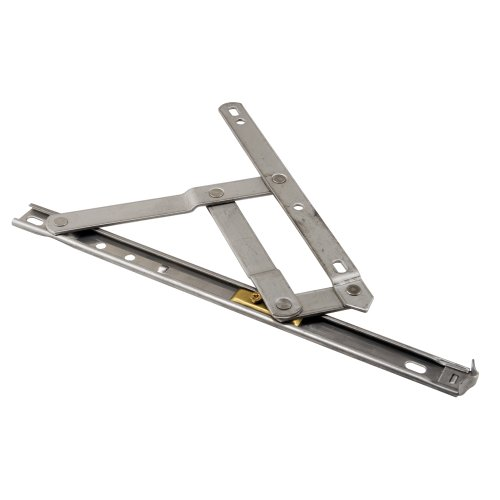 4 Bar Hinge Truth Hardware - Prime-Line Products H 3627 Standard Duty Casement Window Hinge, 10-Inch, Stainless,(Pack of 2)
