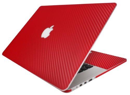 BodyGuardz - Carbon Fiber Armor, Protective Skin for Apple MacBook Pro 13-Inch (Red)