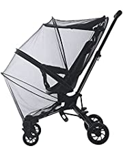 Full Cover Pram Mosquito Nets Breathable Mesh Adjustable Portable Practical Easy Operate Anti-Insect Net Crib Protector Stroller Cradles Accessory