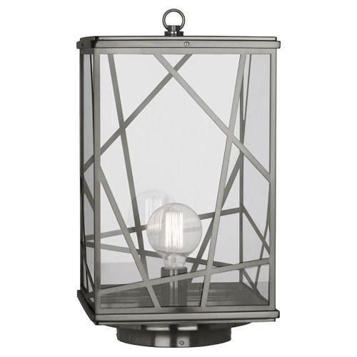 Abbey Post Lantern - Robert Abbey 558 One Light Post Lantern Convertible to Pier Mount