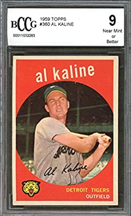 Amazoncom 1959 Topps 360 Al Kaline Baseball Card Graded