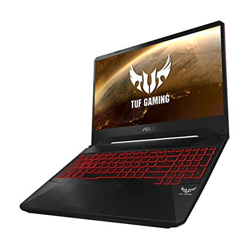 "ASUS TUF Gaming FX505DY-BQ024 - Portátil Gaming 15.6"" FullHD (Ryzen 5 3550H, 8GB RAM, 512GB SSD, AMD Radeon RX560X-4GB, Sin sistema operativo) Negro Red Matter - Teclado QWERTY Español 2"
