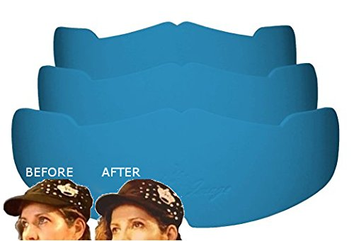 3Pk. Light Blue Manta Ray Baseball Caps Crown Inserts for Low Profile Caps| Hat Shapers| Fitted Hat Liner| Ball Caps Form Shaper| Hat Support| Hat Padding| Hat Cleaning Aide| Storage Aide| 100% MBG. ()
