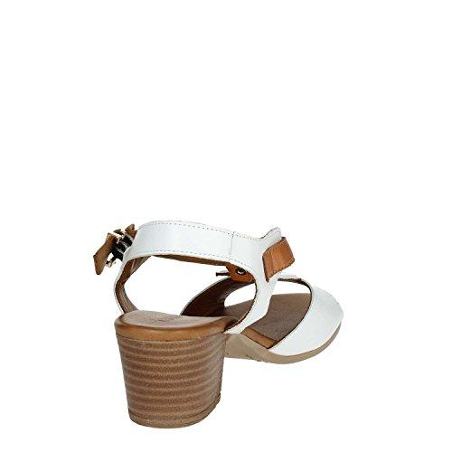 Ibi1840 Donne Bianco Pelle 003 Marrone Sandalo Cinzia Morbide In tw5qCTx7