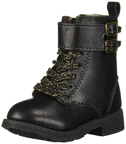 Carter's Girl's Blaire Ankle Boot, Black, 12 M US Little Kid