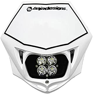 product image for Baja Designs Squadron Sport Motorcycle LED Race Headlight White Shell