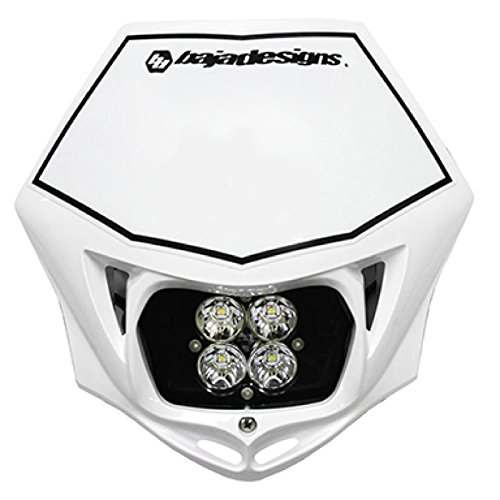 - Baja Designs Squadron Sport Motorcycle LED Race Headlight White Shell