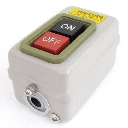 DealMux AC 500V 2.2KW電源三相ON-OFFセルフロックプッシュボタンスイッチ
