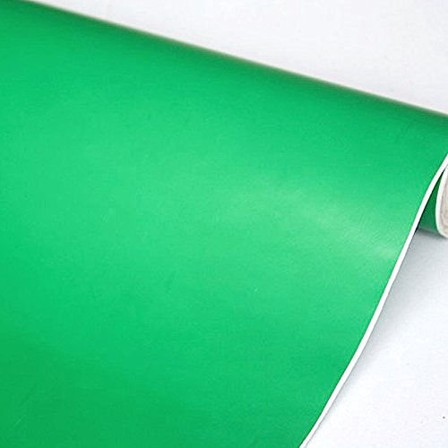 SimpleLife4U Solid Color Green Contact Paper Peel & Stick Shelf Liner Refurbish Old Dresser Drawers 17.7 Inch By 9.8 Feet