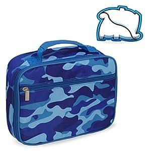 Keeli Kids Lunch Box with Matching Sandwich Cutter Blue
