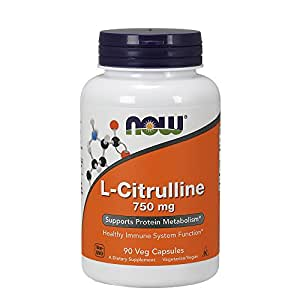 NOW L-Citrulline 750 mg, 90 Veg Capsules