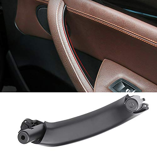 (Jaronx for BMW X3 X4 Door Pull Handle, Right Side Passenger Door Panel Pull Handle,Inner Door Handle Replacement (Fits:BMW X3 F25 2010-2016,BMW X4 F26 2014-2017)(Black))