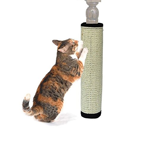 Cat and Dog Accessories M and F 1 PC Cat Scratch Pad Board Protecting Furniture Foot Natural Sisal Cat Scratching Post Toy For Cats Catnip Tower Climbing Tree New Size 40cm/15.75
