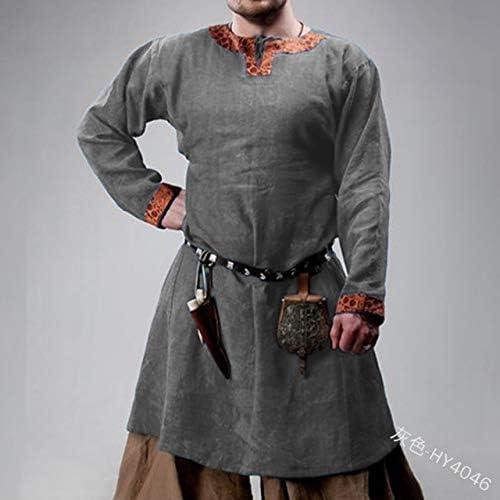 MSSJ Halloween Men Medieval Knight Stage Robes Warrior Cosplay ...