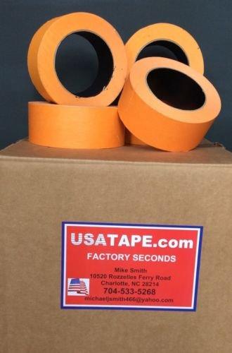 32 Rolls 1 1/2'' X 60 Yrds Orange Automotive Painters Masking Tape body shop use by USA Tape