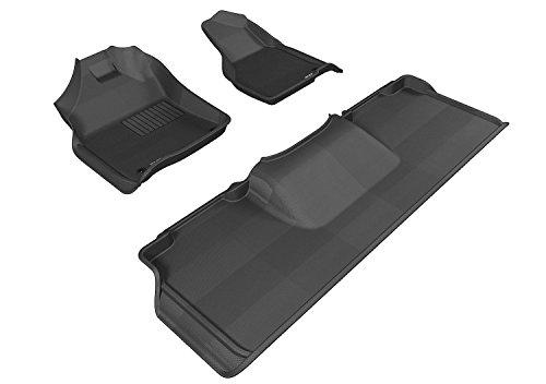 3D MAXpider Complete Set Custom Fit All-Weather Floor Mat for Select Dodge RAM 2500/3500 Models - Kagu Rubber (Black) - Ram 2500 3500 Model