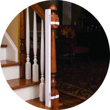 [해외]EZ-Fit : 계단 + 어린이 및 애완 동물 안전을위한 어댑터 키트를 통한 베이비 게이트 워크 - 보호 난간 및 벽 보호 - (1) 어댑터 측면 만 포함 - 다시 문의하십시오/EZ-Fit: 36  Baby Gate