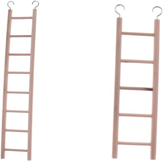 non-brand 2 Piezas Escalera Madera Loro Juguete Rata Puente Juguete Pájaro Hámster Escalera Puente: Amazon.es: Juguetes y juegos