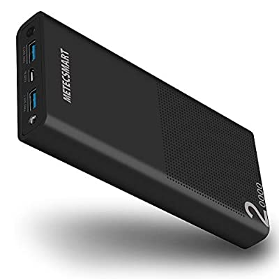 Quick Charge 3.0 Powerbank 20000mAh Portable Charger Power Bank Metecsmart