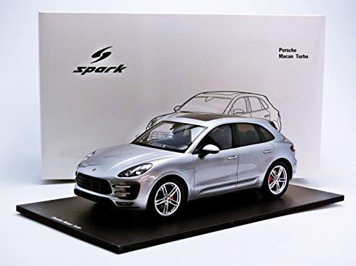 Spark Modelo S18171 MACAN Porsche Turbo Silver 2013 01:18 Auto Ruta: Amazon.es: Juguetes y juegos
