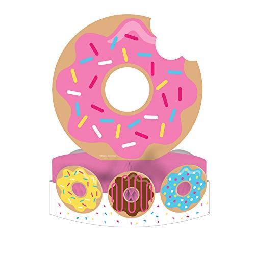 Creative Converting 324235 Donut Party Centerpiece, 12 x 9, Multicolor
