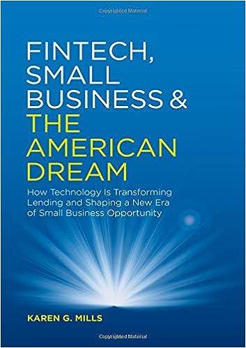 Amazon com: Fintech, Small Business & the American Dream