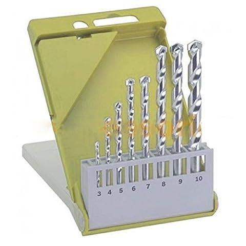 8 Pcs Masonry Drill Bit Set 1/8
