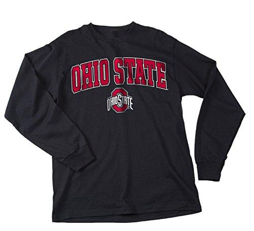 (Elite Fan Shop Ohio State Buckeys Long Sleeve Shirt Arch Black - L)