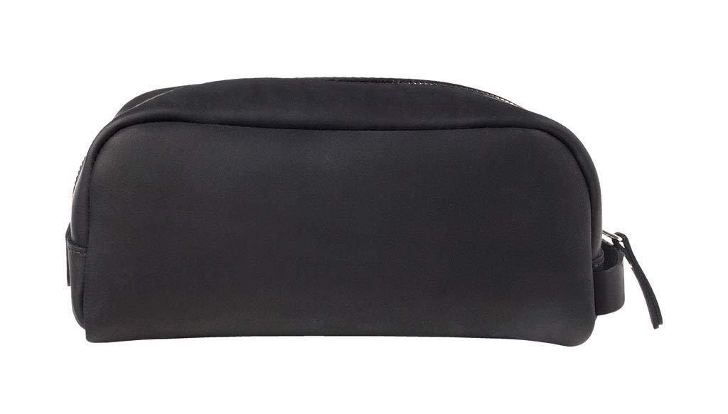 SLATE COLLECTION Greenwood Dopp Kit, Toiletry Bag, Full-grain Leather (Midnight)