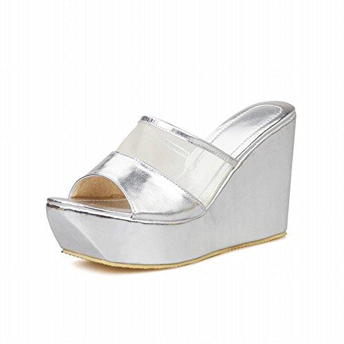 Pictures of Latasa Women's Platform Wedges Slide Sandals 8 M US 1