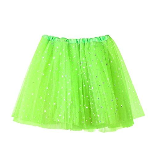 Tutu pour Dress adultes Gauze en Sequins Jupe danse Jupes Vert Star plisse Tutu Lenfesh femmes tutu U6OCnqnW